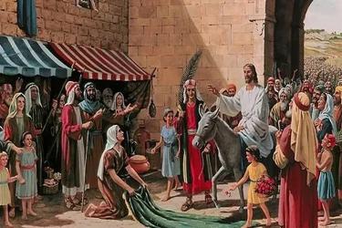 吴伟庆:耶稣荣入圣城